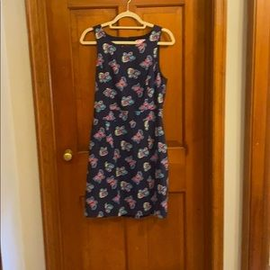 Lilly Pulitzer Navy Dress With Butterflies